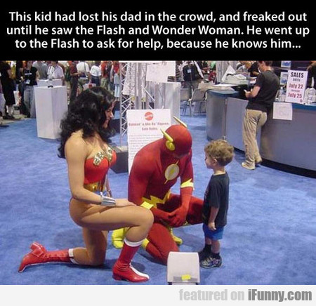 This Kid Had Lost His Dad In The Crowd