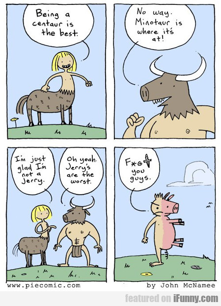 being a centaur is the best