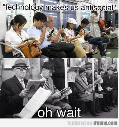 Technology Makes Us Antisocial