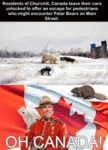 Residents Of Churchill, Canada Leave Their Cars...