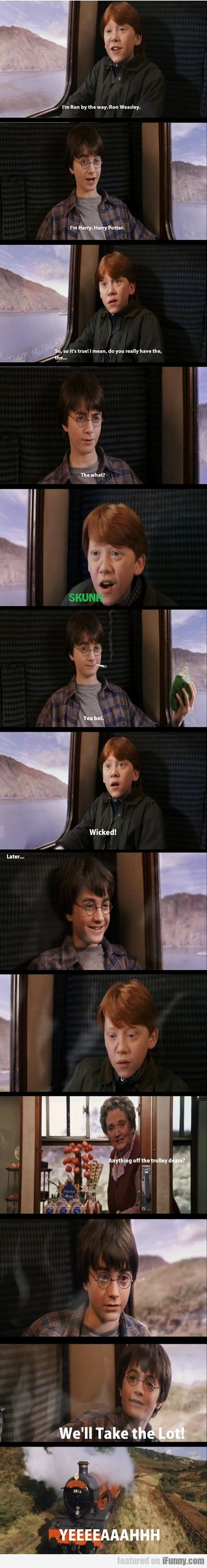 i'm ron by the way. ron weasley.