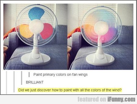 Paint Primary Colors On Fan Wings