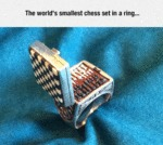 The World's Smallest Chess Set In A Ring...