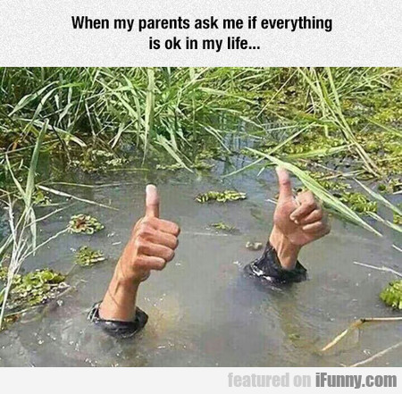 When My Parents Ask Me If Everything Is Ok