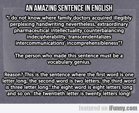 An Amazing Sentence In English