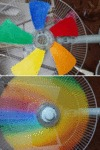 Fan Creating Some Rainbow Awesomeness