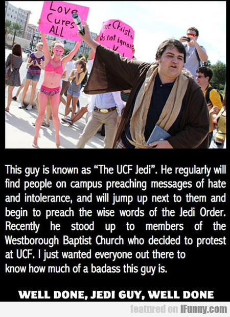 This guy is known as The UCF Jedi