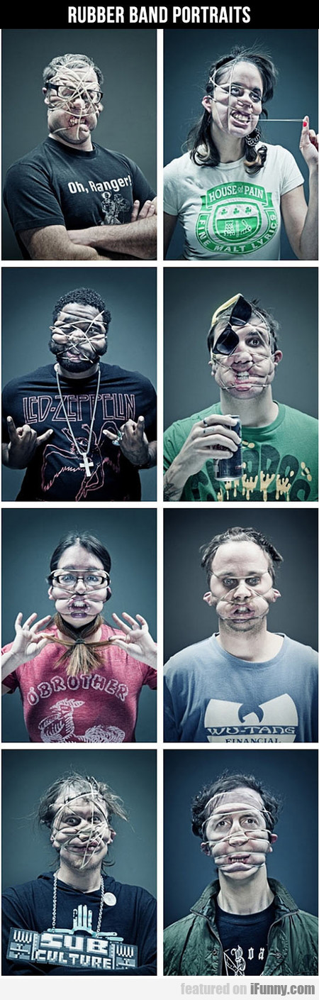 Rubber Band Portraits
