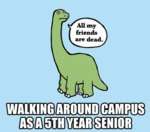 Walking Around Campus As A 5th Year Senior