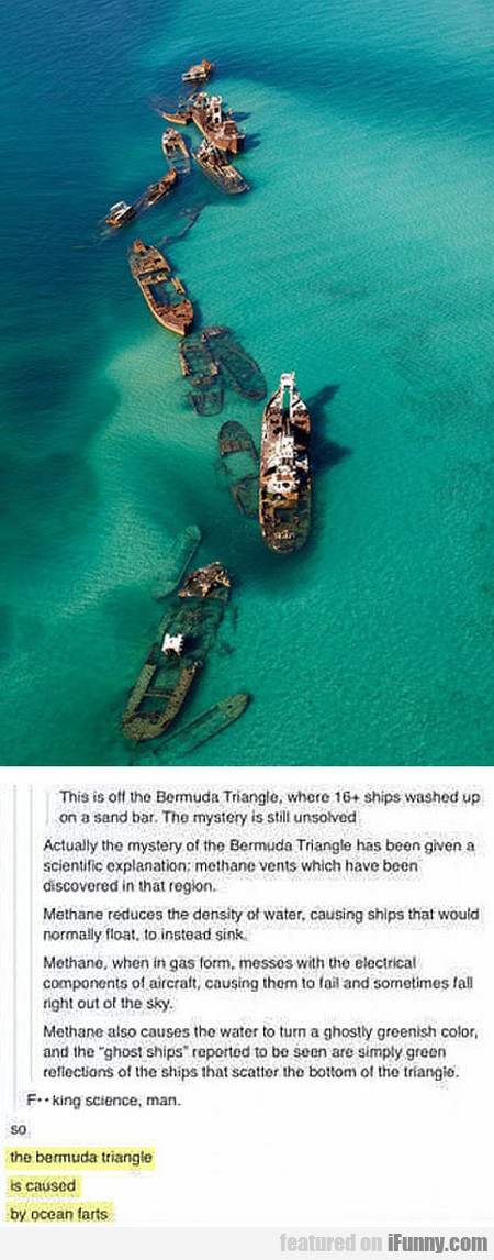 The Bermuda Triangle Is Caused By Ocean Farts