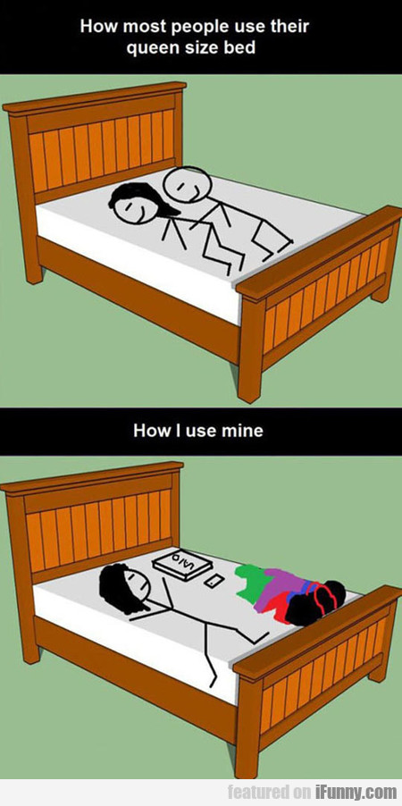 how i use my queen size bed