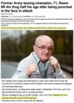 Former Army Boxing Champion, 71, Floors 6ft 4in