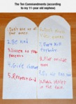 The Ten Commandments (according To A Kid)