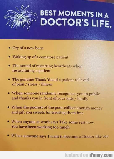 Best Moments In A Doctor's Life