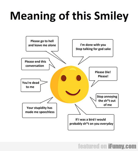 Meaning of this Smiley