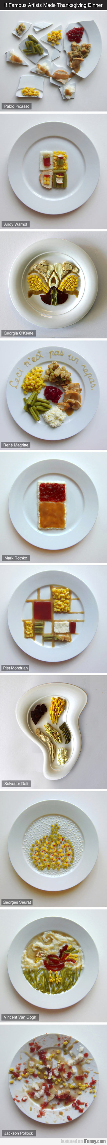If Famous Artists Made Thanksgiving Dinner
