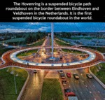 The First Suspended Bicycle Roundabout In The Worl