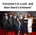 Everyone's In A Suit And Then... Eminem!