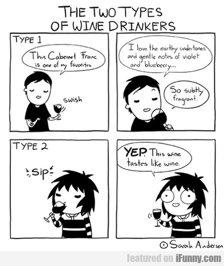 The Two Types Os Wine Drinkers