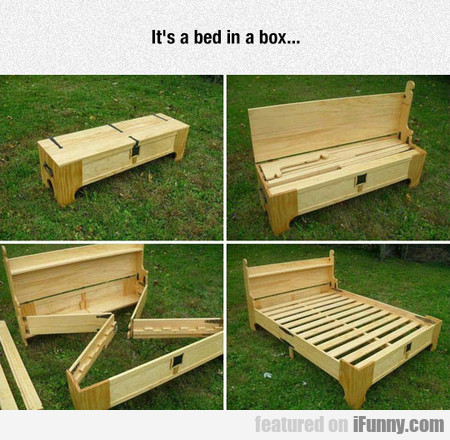 It's a bed in a box