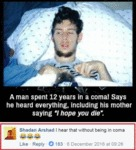 A Man Spent 12 Years In A Coma!