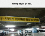 Parking Fee Just Got Real...