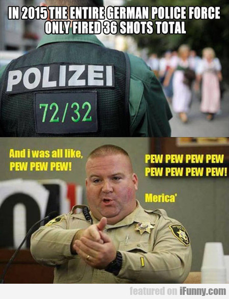 in 2015 the entire german police force only fired