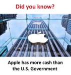 Apple Has More Cash Than U.s. Gov.