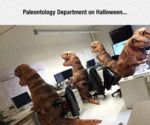Paleontology Department On Halloween...