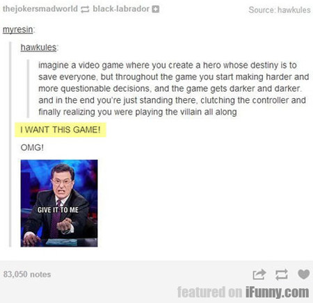 I Want This Game