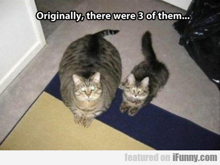 originally, there were 3 of them...