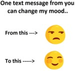 One Text Message From You...