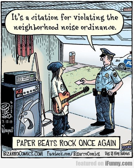 Paper Beats Rock Once Again