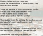 Religion Is Like Having A Classroom