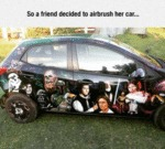 So A Friend Decided To Airbrush Her Car...