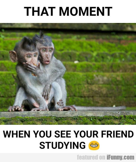 That Moment When You See Your Friend...