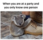 When You Are At A Party And You Only Know One