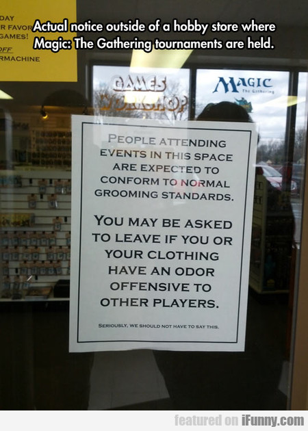 Actual Notice Outside Of A Hobby Store