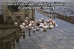Isaac Cordal Sculpture Depicting Global Warming