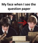 My Face When I See The Question Paper