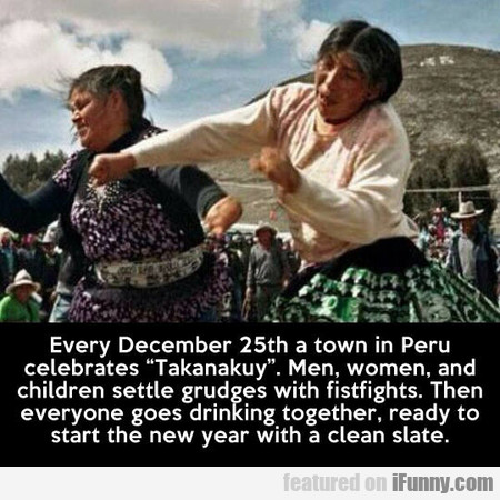 Every December 25th A Town In Peru Celebrates Taka