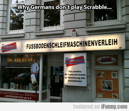 Why Germans Don't Play Scrabble