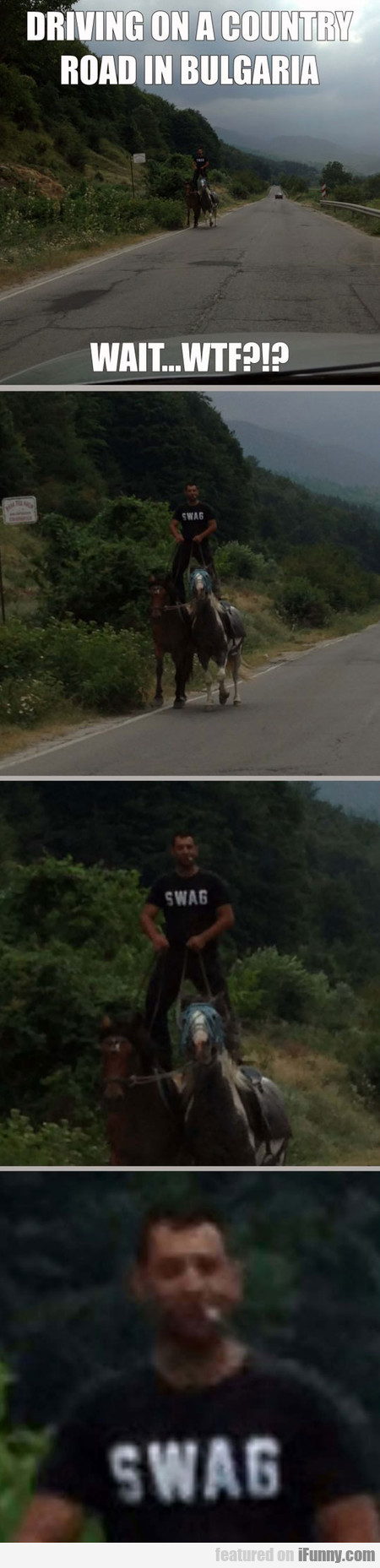 Driving On A Country Road In Bulgaria