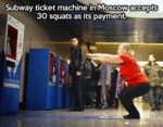 30 Squats As Payment For Moscow Subway