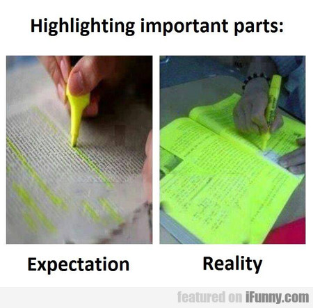 Highlighting Important Parts