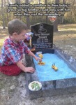 Family Added A Sandbox To Their Baby's Grave
