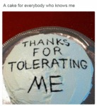 A Cake For Everybody Who Knows Me