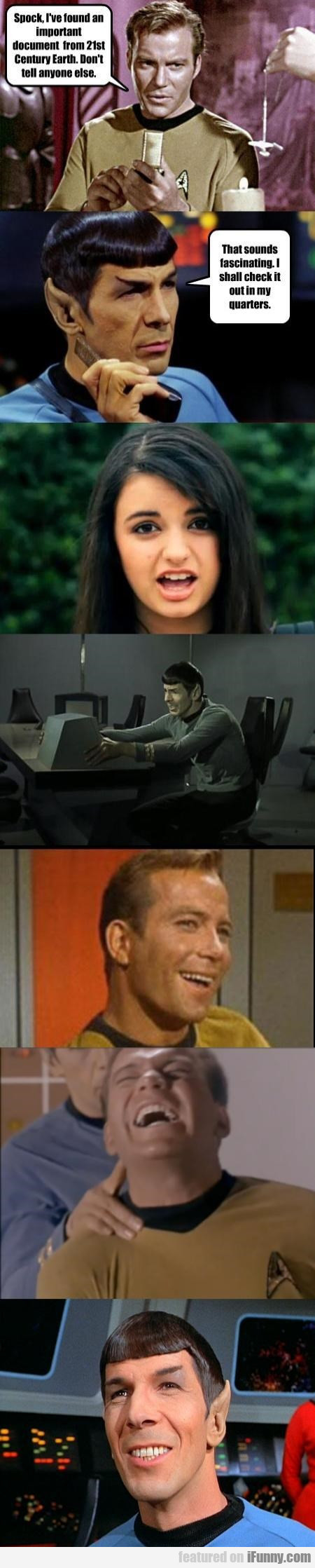 Spock, I've Found An Important Document From 21st