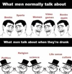 What Men Talk About...