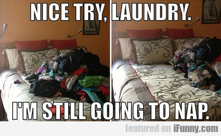 nice try, laundry. i'm still going to nap